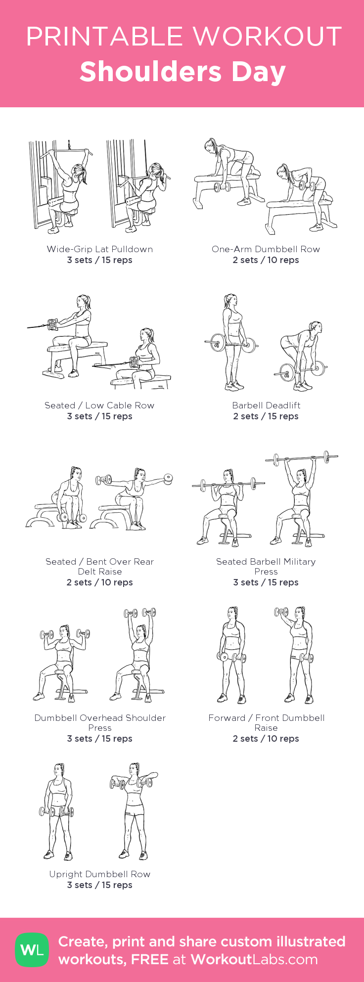 Shoulders Day: my visual workout created at WorkoutLabs.com • Click ...