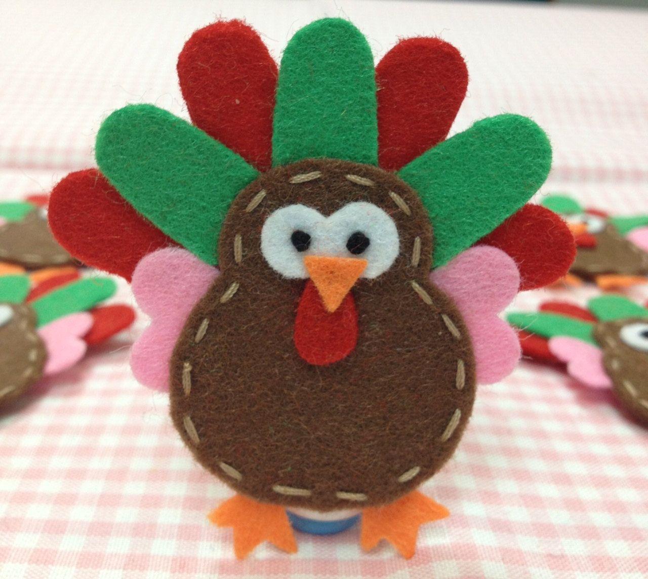Felt Turkey Fun Thanksgiving Arts And Crafts Handmade Felt Felt Ornaments