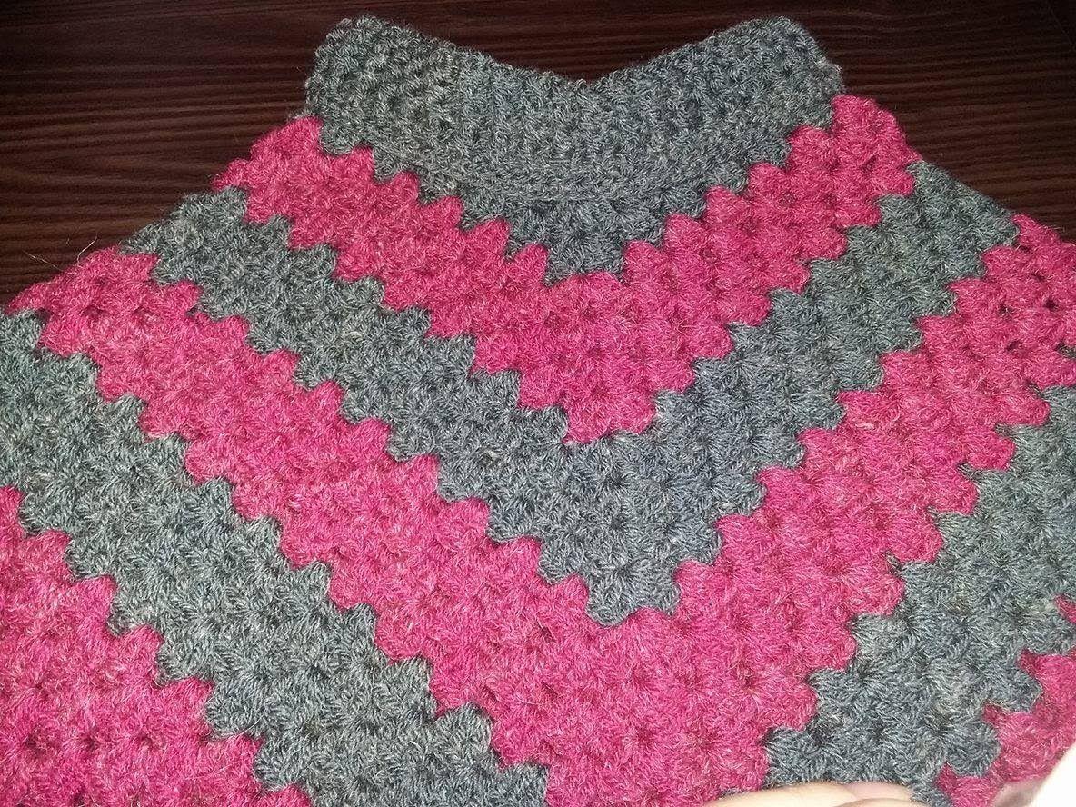Poncho em crochê com gola | Crochet | Pinterest