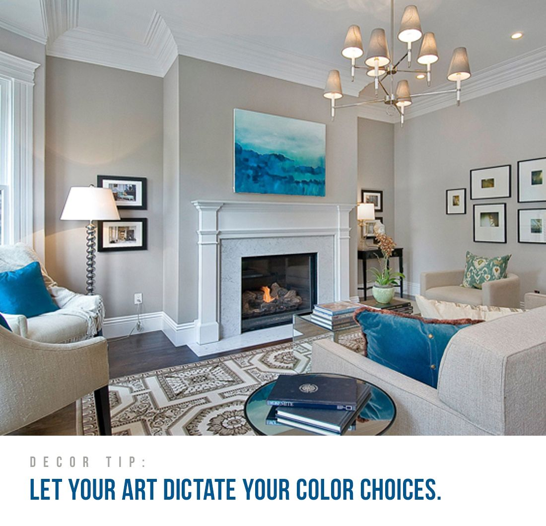 Decor Tip #1 Let Your Art Dictate Your Color Choices