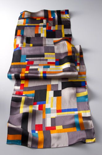 Grey Diamond Scarf, Scarves, Apparel & Accessories - The Museum Shop of The Art Institute of Chicago