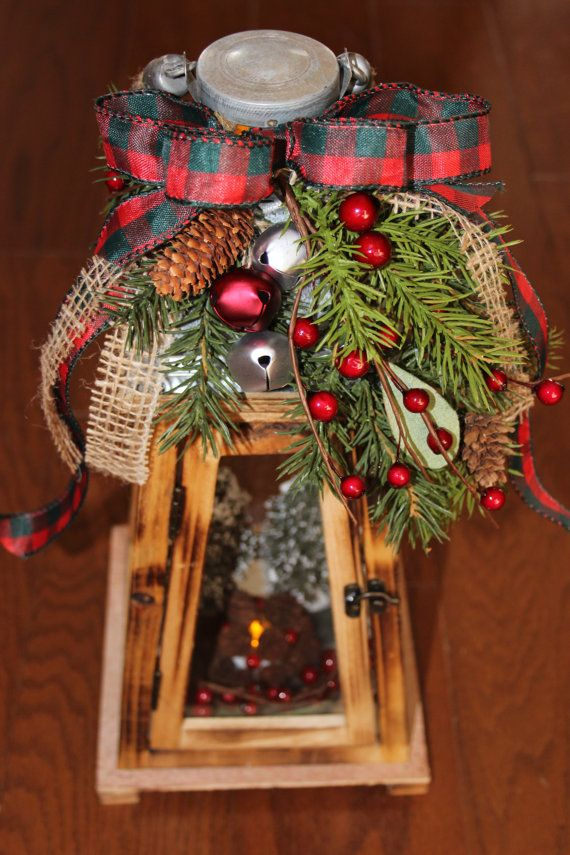 Rustic Wooden Christmas Lantern Holiday By Littlebitmystyle