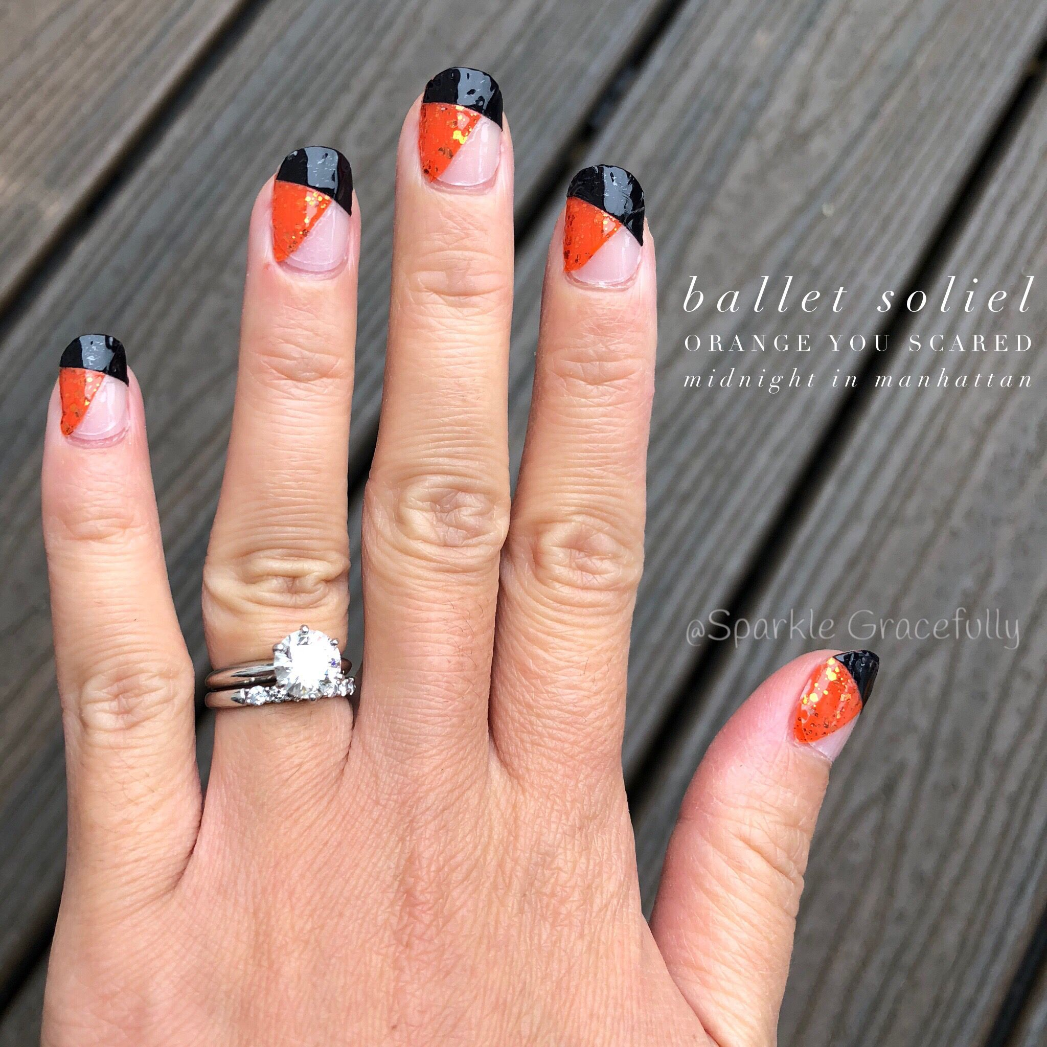 Fabulous Halloween Inspired Nails Orange And Black Orange Nails Halloween Nails Nails