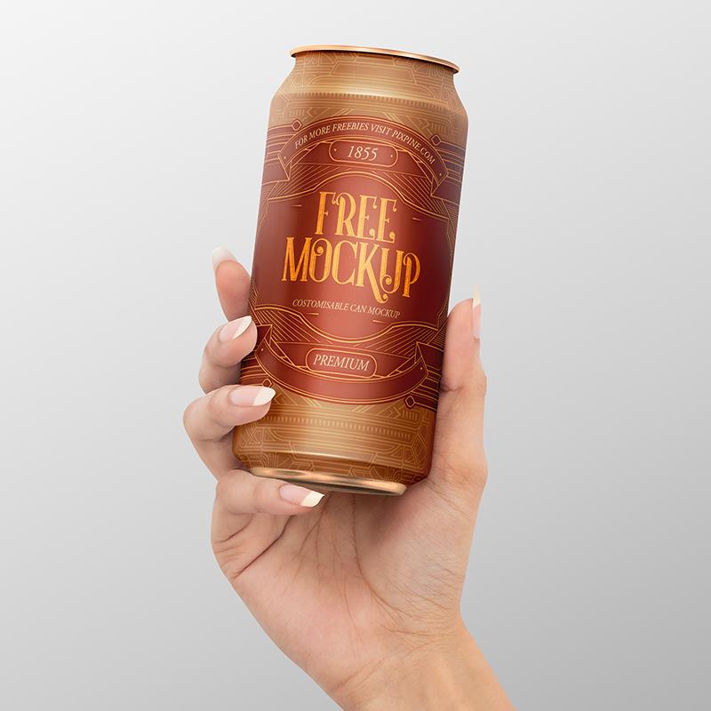 Free Can Mockup Free 500ml Can Mockup Pixpine Beer Bottle Pack Free Mockup Bottle Mockup