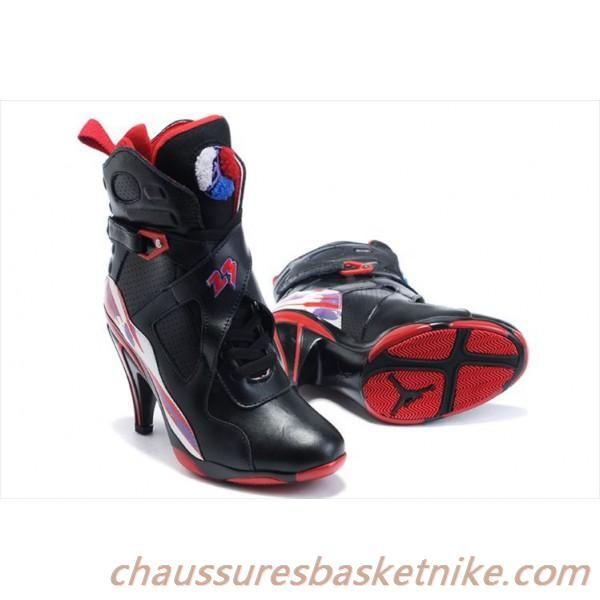 Air Jordan 8 talons hauts noir rouge