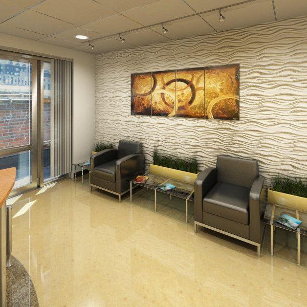 Office Ideas Reception: 3d Model Building Lobby Office Reception