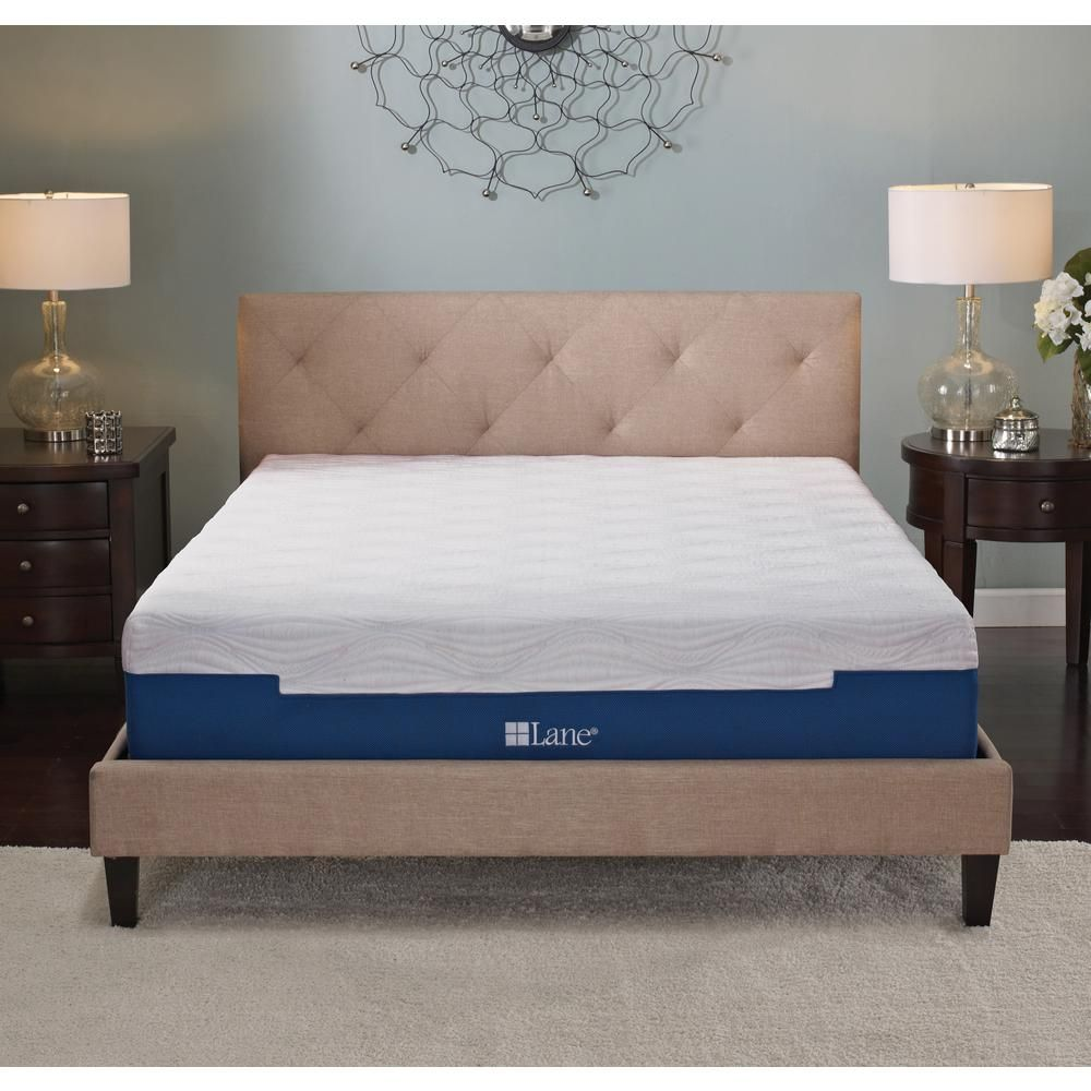 Rest Rite By Lane 7 In Queen Size Memory Foam Mattress With Free