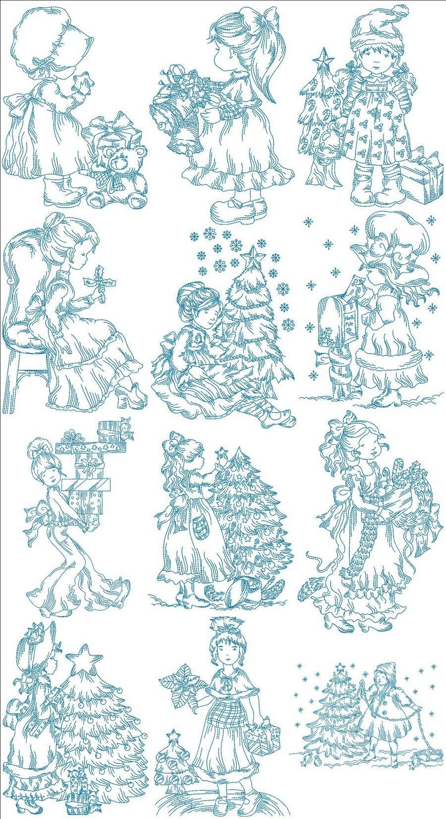 Yuletide Yesteryear Girls | SARAH KAY | Pinterest | Bordado, Dibujos ...