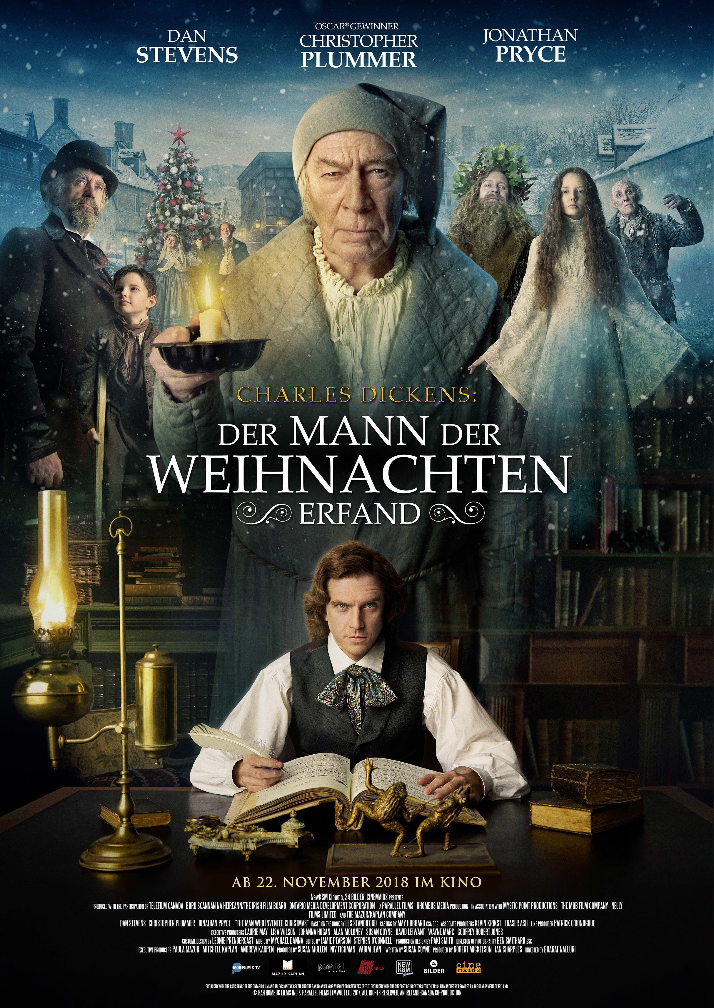 Charles Dickens Der Mann Der Weihnachten Erfand Hat Ein Deutsches Poster Charles Dickens De Best Christmas Movies Streaming Movies Free Christmas Movies