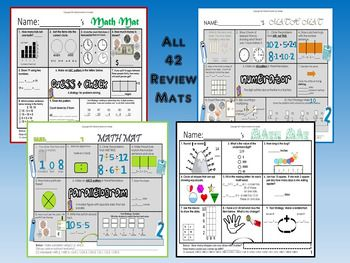 NwEa Map Reading and Math Review Mats Collection Bundle