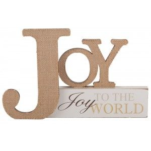 Joy to the World Tabletop Plaque