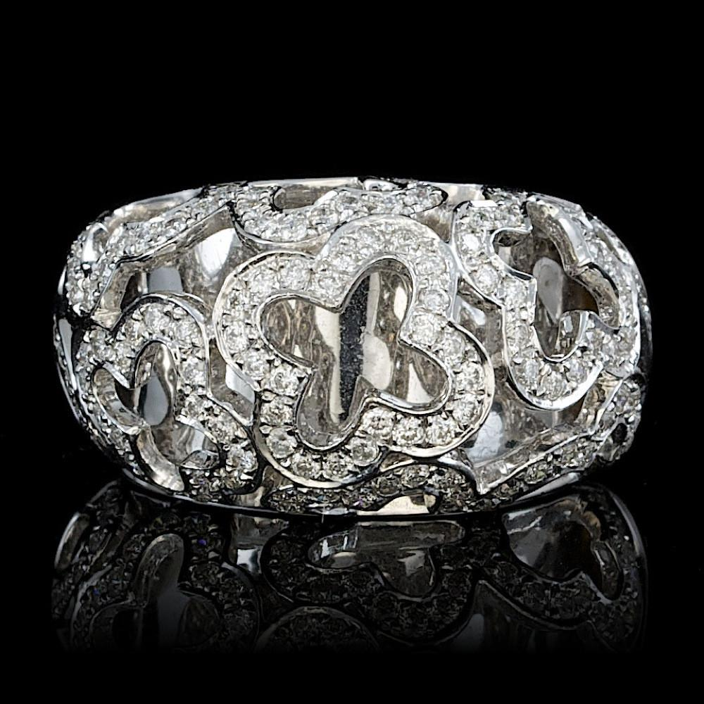 18K WHITE GOLD 0.80CT DIAMOND RING White gold, White