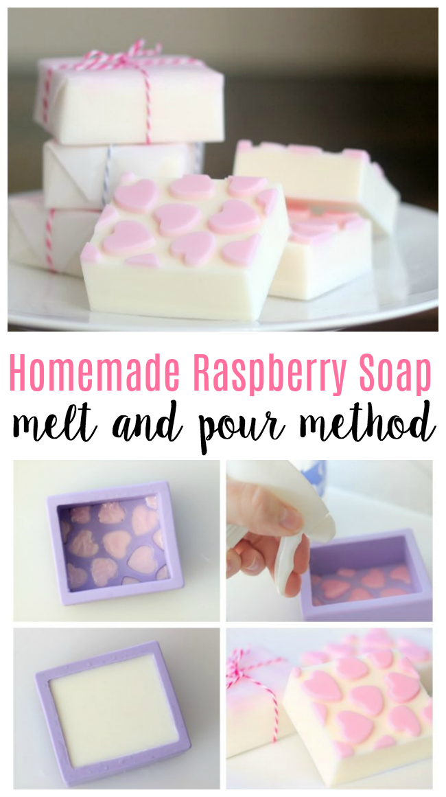 Homemade Raspberry Soap in 3 Simple Steps