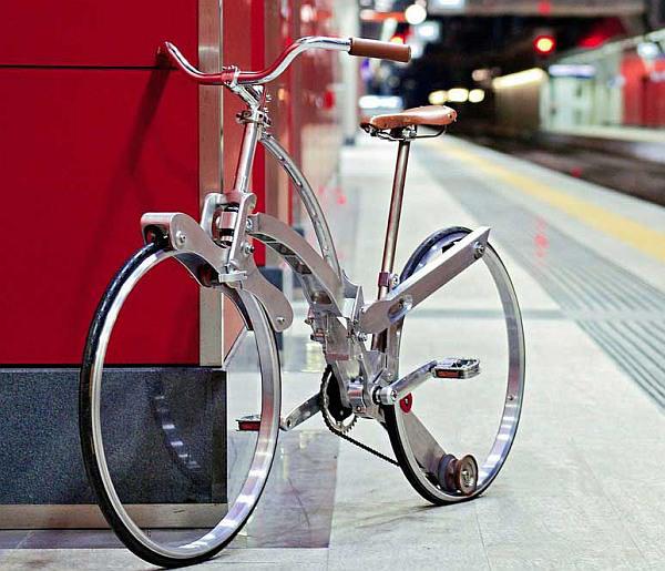 スポークもハブもない折り畳み自転車 Sada Bike タイヤサイズは26インチ えん乗り 折り畳み自転車 自転車 折りたたみ自転車