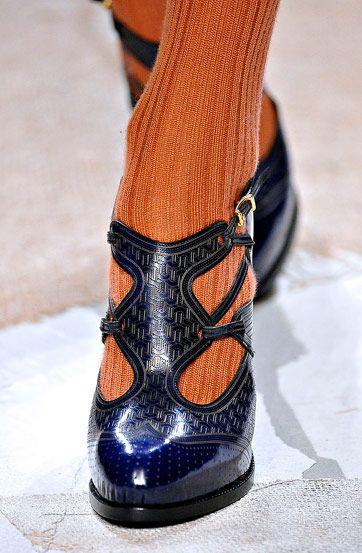 Fendi Fall 2011:  Orange ya glad you're wearing those fabulous blue shoes too?