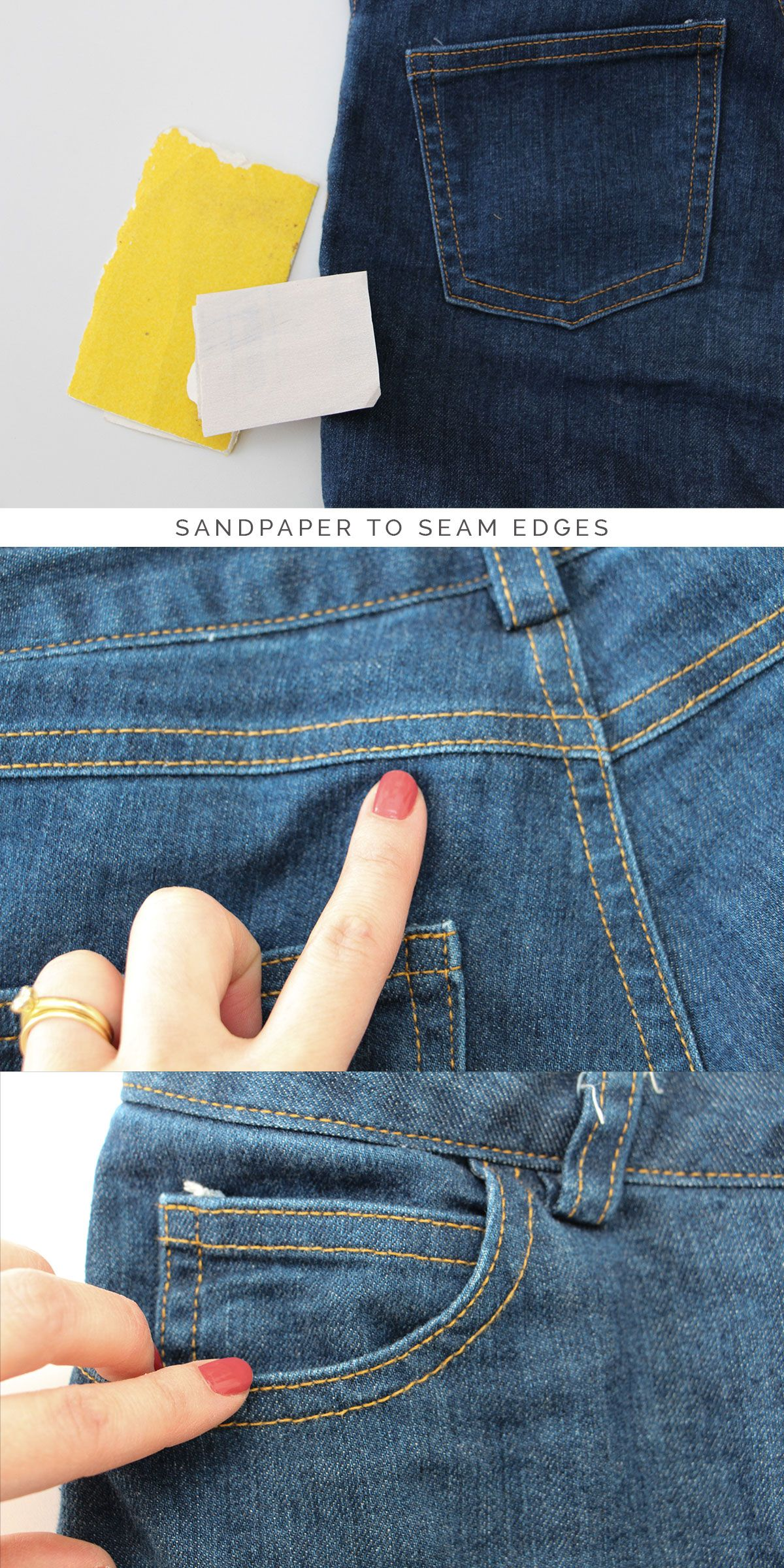 how to fade dark jeans