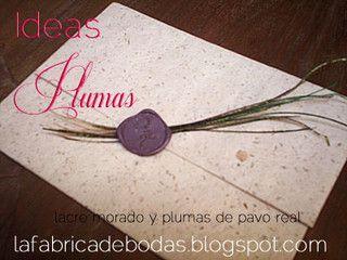 DIY-invitaciones-de-boda-sello-de-lacre-guatemala-plumas-pavo by lafabricadebodas, via Flickr