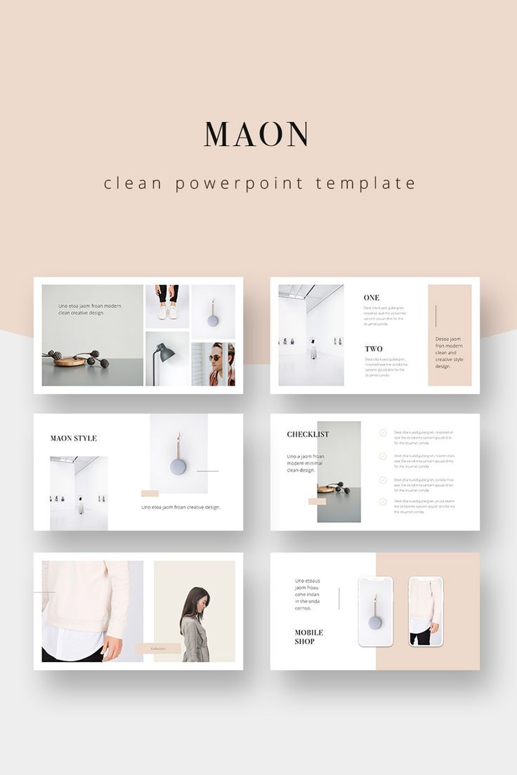 MAON - Powerpoint Template PowerPoint Template #75343