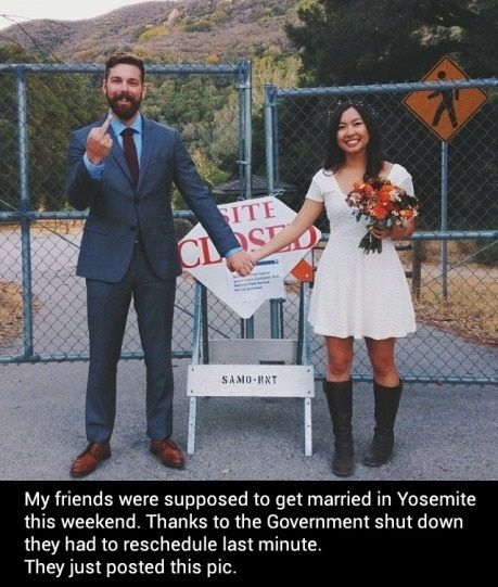 funny picture just married government shutdown wanna joke.com