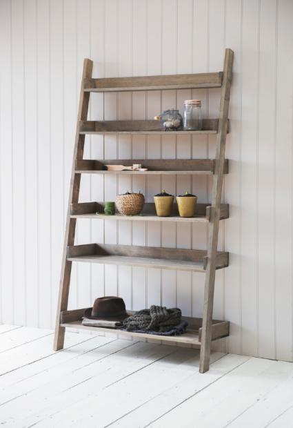 Decoratie Ladder Aldsworth Hout Awsl02 Ladderplank Slaapkamerkast Rustieke Boekenkast