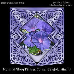 Morning Glory Filigree Corner Gatefold Mini Kit