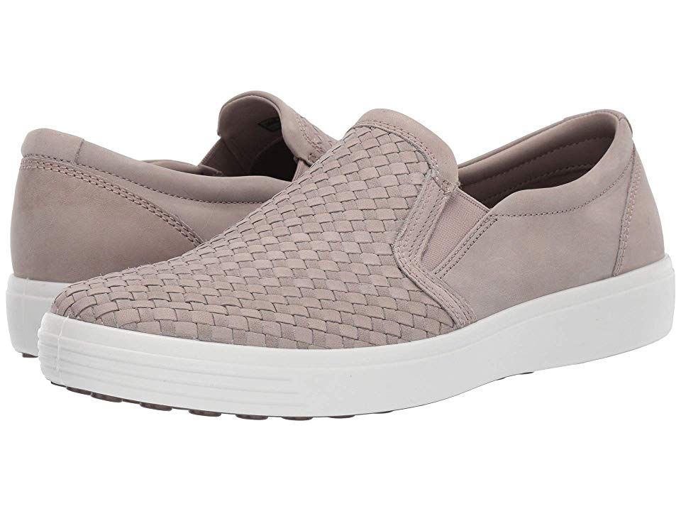 d506894c873fa7 ECCO Soft 7 Plaited Slip-On Men's Shoes Moon Rock in 2019 | Products ...