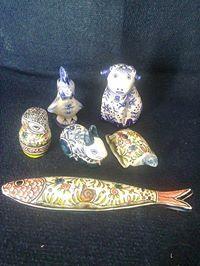 animais em cerâmica
