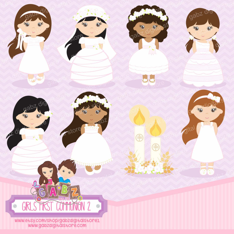 Girls First Communion 2, Girls, Communion, Clipart | Clipart baby ... for Communion Girl Clipart  76uhy