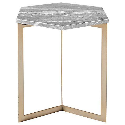 buy west elm hex side table online at. Black Bedroom Furniture Sets. Home Design Ideas