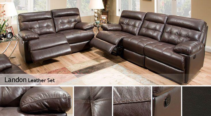 Landon Leather Set - Costco Formal Living Room Pinterest Room