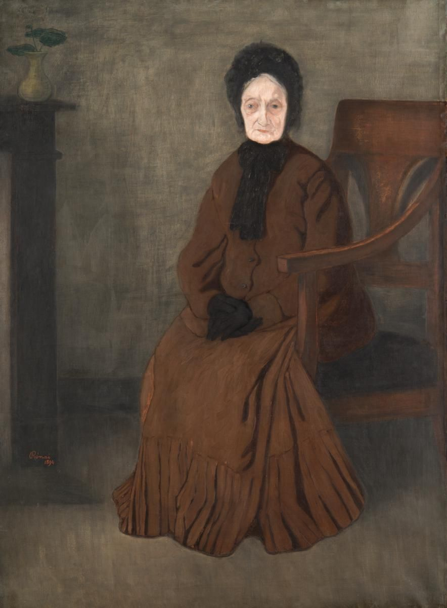 Jozsef Rippl Ronai My Grandmother Art Female Art Portrait Painting