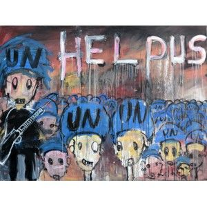 """""""help us"""" par Aboudia  Edition en séries limitées numérotées, disponible en 3 formats. L'éditrice - http://leditrice.fr"""