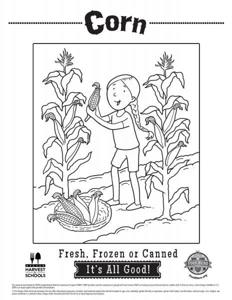 Corn Coloring Pages