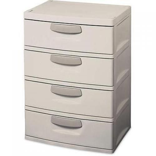Sterilite  Drawers Unit Putty Handles Storage Organizer Cabinet Plastic New New Doesnotapply