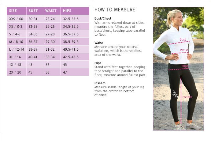 Athleta size chart need some fit advice call 877 328 4538