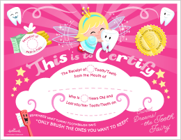 Special delivery from the tooth fairy printable tooth fairy free printable tooth fairy certificate pink hallmark hallmarkideas yadclub Images