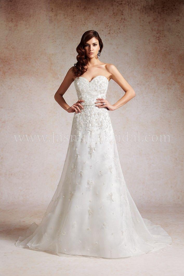 Jasmine Bridal - couture - padrão de bordado floral delicado