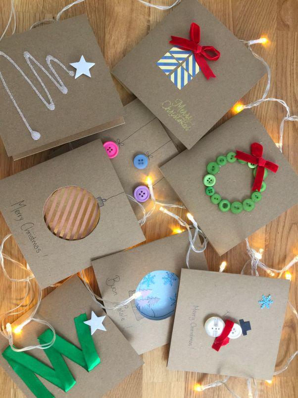 Biglietti Di Natale Con Carta Riciclata.Biglietti Di Natale Fai Da Te Cartoline Di Natale Fatti A Mano Carte Di Natale Fatti In Casa Bambini Artigianato Di Natale