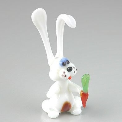 Easter White Bunny with Carrot