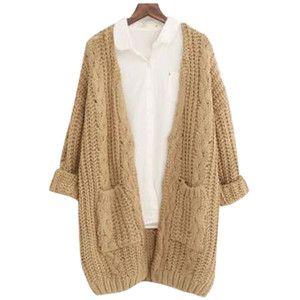 Chicnova Fashion V Neck Chunky Knit Cardigan | clothes ...
