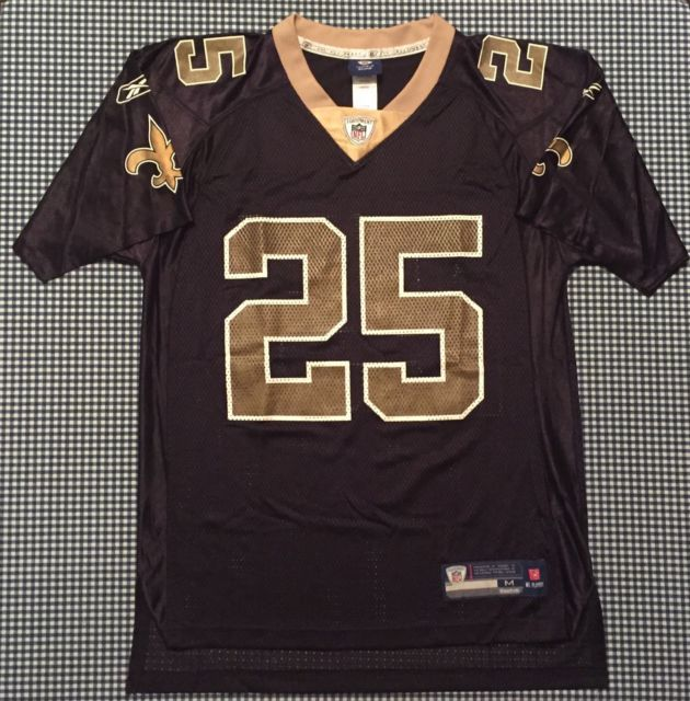 Reggie Bush New Orleans Saints Replica Jersey Size Medium Black Reebok NFL  USC 7084ac5d3