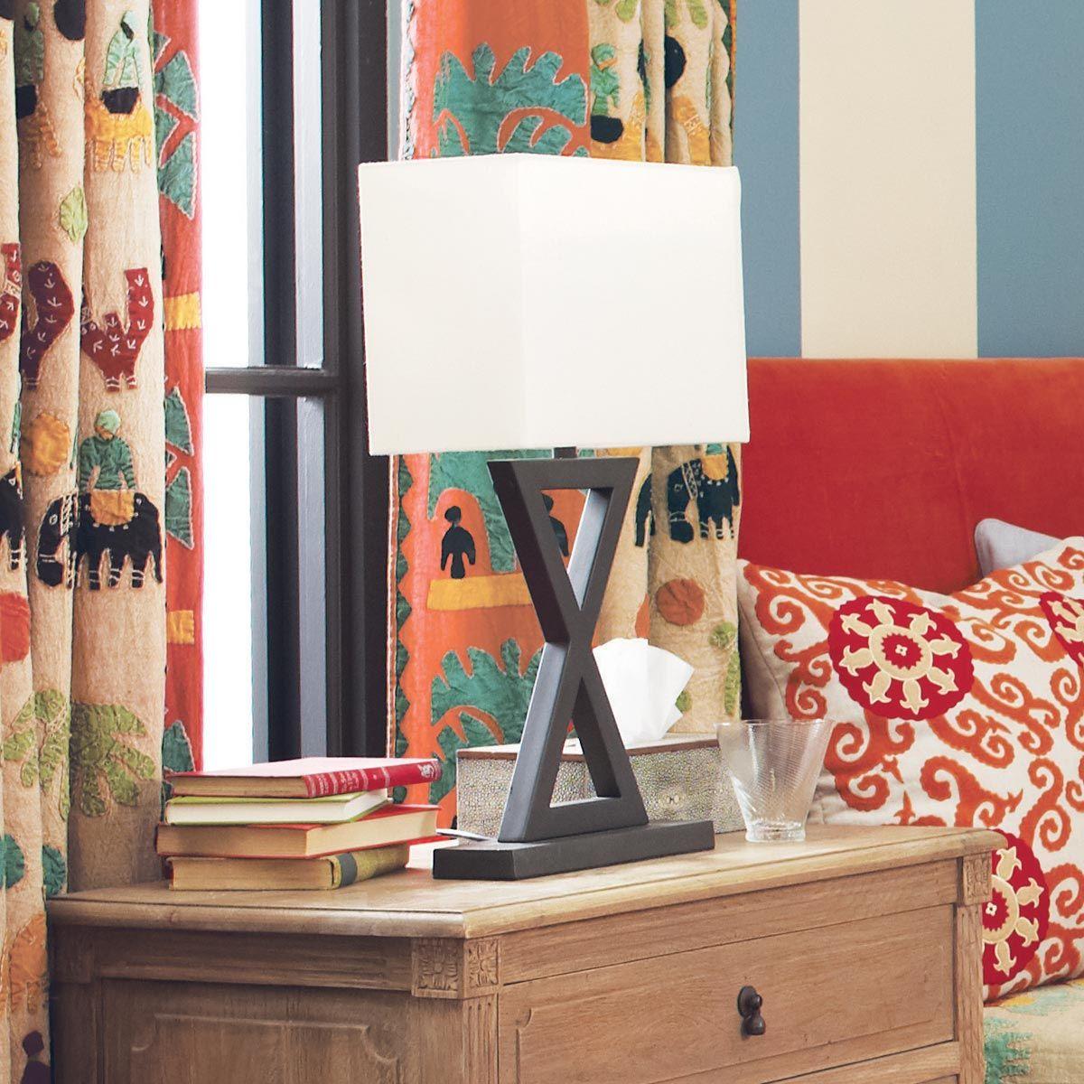 Monochrome 'X' Lamp, Narrow Lamp, Table lamp design