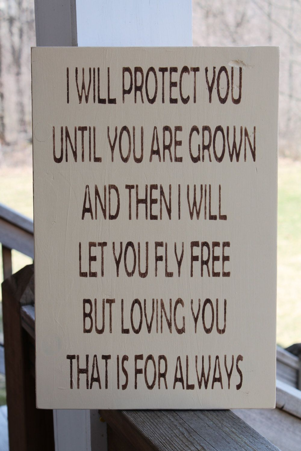 Quotes About A Mother's Love Mothers Wood Sign Mothers Day Gift I Will Protect You Loving