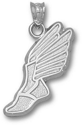 Track Winged Foot Pendant Sterling Silver Jewelry By Logo Art