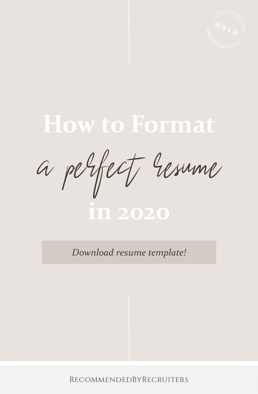 How to Format Perfect Resume in 2020, CV Format and Design