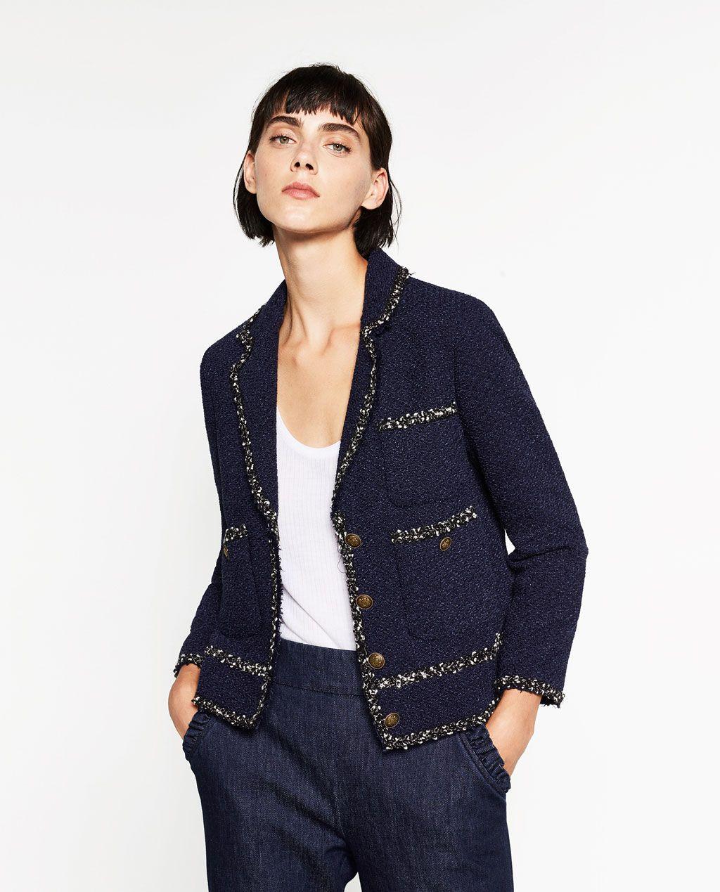 40a99c47 TWEED JACKET-BLAZERS-WOMAN | ZARA Romania | Fashion 2 | Chanel tweed ...