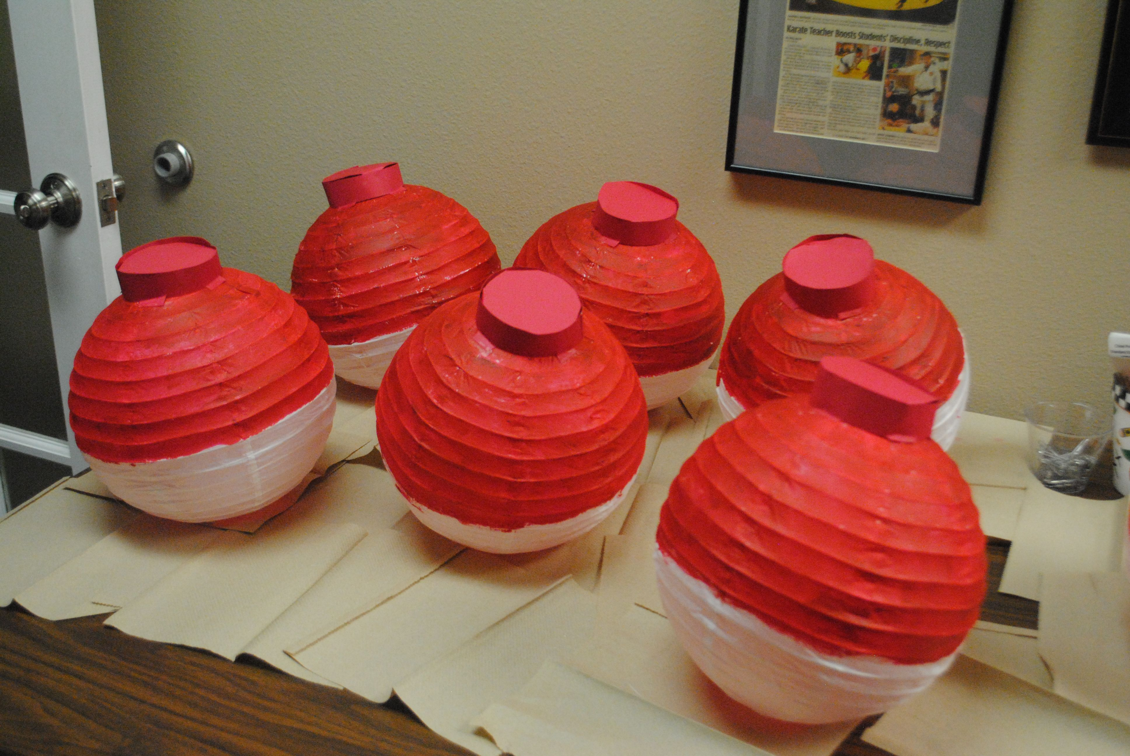 Fishing Bobber Decorations Painted Paper Lanterns With