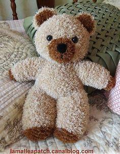 Tricoter un ours peluche, modèles et tuto   tricot   Tricot, Modele ... f62df76b50e
