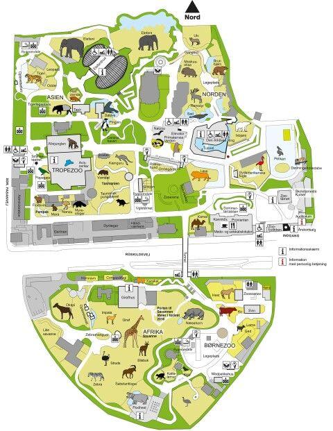Cph Zoo Map Zoo Map Copenhagen Zoo Zoo
