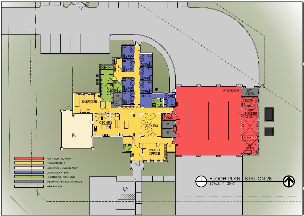 Volunteer fire station floor plans google search fire for Find house plans